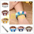 1pc DIY PU Leather Buckle Colors Bracelet Fit Button Beads Snap Jewelry Womens