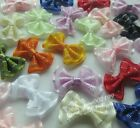 60/240pcs Upick Mini Ribbon Bows DIY Sewing Appliques Crafts Wedding Deco E192