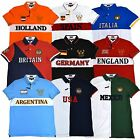 Tommy Hilfiger Mens Country Polo Shirt Custom Fit Flag Short Sleeve Knit Nations