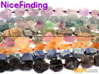 Natural Freeform Crude Raw Stone Beads For Jewelry Making Gemstone Strand 15""