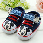 Baby Boy Mickey Mouse Crib Shoes Walking Sneakers Size 0-6 6-12 12 -18 Months /V
