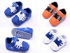 Baby Boy Soft Sole Crib Shoes Sneakers 3 color choices Size 0-18 Months/V
