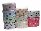 "16mm 25mm 5/8"" 1"" Dot Bubble Premium Grosgrain Ribbon Occasions Eco CLEARANCE"