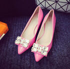 Sexy Fashion Women patent Leather Diamante platforms & wedges Pointy Party Shoes