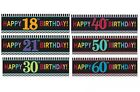CHEVRON BIRTHDAY Age GIANT SIGN BANNERS (20x65in) {Amscan}(Party/Celebrate)