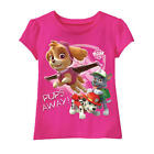 "Nickelodeon Girls Paw Patrol Pink ""Pups Away"" Short Sleeve T Shirt- Toddler"