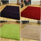 Soft Non Shed Thick 50mm Pile Shaggy Rug Modern Carpet Easy Clean Mats CHEAP UK