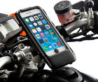 Bike Handlebar Helix Strap Motorcycle Mount + Waterproof Case for iPhone 6 Plus