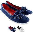 Womens Keds Tea Cup Slip On Plimsoll Pumps Lace Up Summer Canvas Shoes UK 3-8