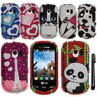 For LG Extravert VN271 FULL GEM BLING CRYSTAL HARD Case Phone Cover + Pen