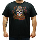 Harley-Davidson Mens Flames Skull with B&S Black Short Sleeve T-Shirt