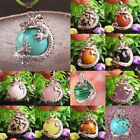 Free Shipping Mix-Stone Amethyst Turquoise Agate Round Bead Dragon Pendant 1PCS