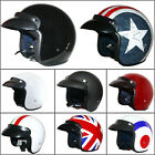 LEOPARD LEO-604 Open Face Plian/Graphic Motorcycle Motorbike Helmet Road Legal