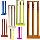 Cricket Wickets Stumps and Bails Wooden Stumps Withs Floor Base ADULTS,YOUTH