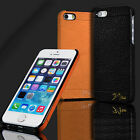 100% Luxury Genuine Real Leather Cover Hard Back Case For Apple iPhone 5/5s/SE