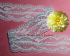 "Lace Trim White CLOSEOUT 10/19 Yards 3/4"" Delicate Galloon K01DV Remnants/Choice"