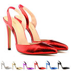 Womens High Heels Stilettos Ankle Strap Wedges Platform Stilettos Shoes Size 2-9