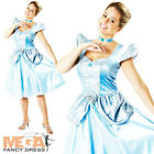Disney Cinderella Ladies Fancy Dress Fairytale Princess Womens Costume Outfit