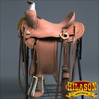 "RS106 HILASON ""BIG KING Series"" WESTERN WADE RANCH ROPING COWBOY SADDLE 15 16 17"