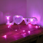 2M BATTERY MICRO SILVER WIRE HEART WEDDING VALENTINES LIGHT FAIRY STRING,20 LEDS