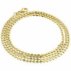 "10k Yellow Gold Moon Cut Style Link New Solid Chain Necklace (1.5mm) 18"" - 36"""