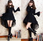 Dolly Kawaii GOTHIC PUNK LOLITA ALICE swallow tail DRESS +CHOKER BLK version