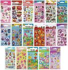Party Sticker Packs (6 Sheets) Kids Characters (Large Range) Loot Toy Bag Filler