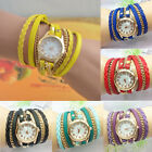 Hot Selling Lady Rhinestone Faux Leather Sling Chain Quartz Wrist Watch New