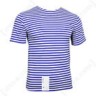 Genuine RUSSIAN PARA Blue Striped T-Shirt Short Sleeve PARATROOPER Top All Sizes