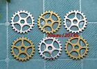 15/60/300pcs Antique Style Lovely Filigree Mini Gear Charms Pendant DIY 15mm