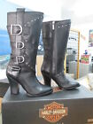 NEW Harley Davidson Womens Leather Boot Boots Shoes Medium Black Annalisa