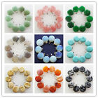 10Pcs Beautiful Mixed Stone Round Pendant Bead LL012(Randomly send)