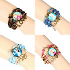 Girls Kids Gifts Frozen Braided Leather Good Friends Custome Bracelet Hand Chain