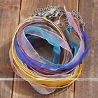 2Pc Organza Voile Ribbon Necklace Silk Cord Jewelry Chain Finding Adjustable New