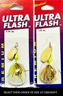 NEW Ultra Flash Premium Chartreuse / Orange Rooster Tail Fishing Spinner Lure