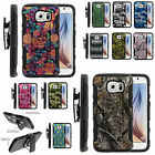 Armor Rugged Hard Stand Holster Combo Clip Case For Samsung Galaxy S 6 VI Black