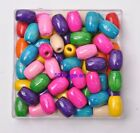 Wholesale mix color Charms Wood Oval Loose Spacer Beads u pick