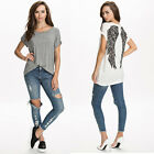 Sexy Summer Fashion Women Short Sleeve Blouse Loose Wings Top Shirt Tide
