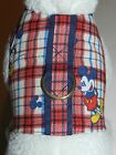 DOG CAT FERRET~ Red Blue Plaid MICKEY MOUSE Harness