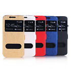 Window Leather Wallet Flip Case Cover for Samsung Galaxy S6 G9200 Tide