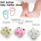 Non-Slip Newborn Infant Baby Toddler Lace Frilly Flower Shoes Soft Sole With Box