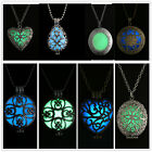 Glow in the Dark New Fashion Hollow Love Women Locket Pendant Necklace Chic Gift