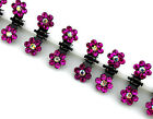 2015 Hot Girls Sweet Crystal Rhinestone Flower Mini Hair Claws Clips Clamps 6Pcs