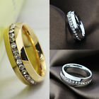 1X New Style Gold Silver Plated Ring Lady Crystal Rhinestone Lovers Jewelry Ring