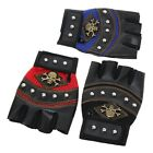 1x Man's Skulls Mitten Gloves Outdoor Sports Cycling Fitness Leather Gloves - LD