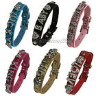 Snakeskin Personalised Pet Dog Cat Collar Rhinestone Letters Bling Charms DIY