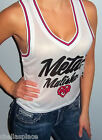 New METAL MULISHA MAIDENS White MESH Tank Crop Top JERSEY M L XL
