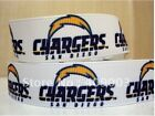 "SAN DIEGO CHARGERS NFL GROSGRAIN  RIBBON 22 MM (7/8"")  WIDTH 10, 15 YARDS #3"
