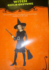 Witch Black Silver Girls Dress Costume S M L NIP