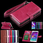 New Luxury Flip Real Leather Wallet Cover Case Stand For Samsung Galaxy Note 4